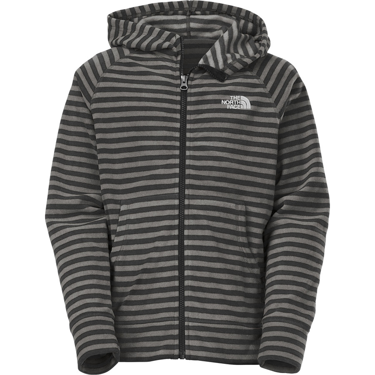 photo: The North Face Boys' Striped Glacier Full Zip Hoodie fleece jacket