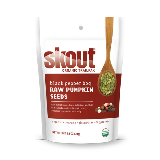 Skout Raw Pumpkin Seeds - Black Pepper BBQ