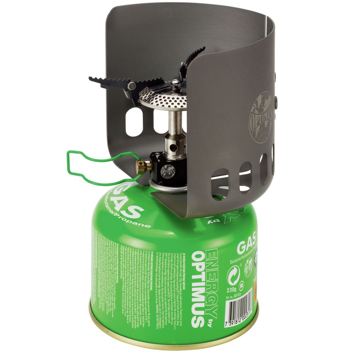 photo: Optimus Elektra FE compressed fuel canister stove
