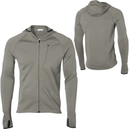 photo: Ibex Full Zip Hooded Shak long sleeve performance top