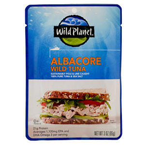 photo:   Wild Planet Albacore Wild Tuna meat entrée