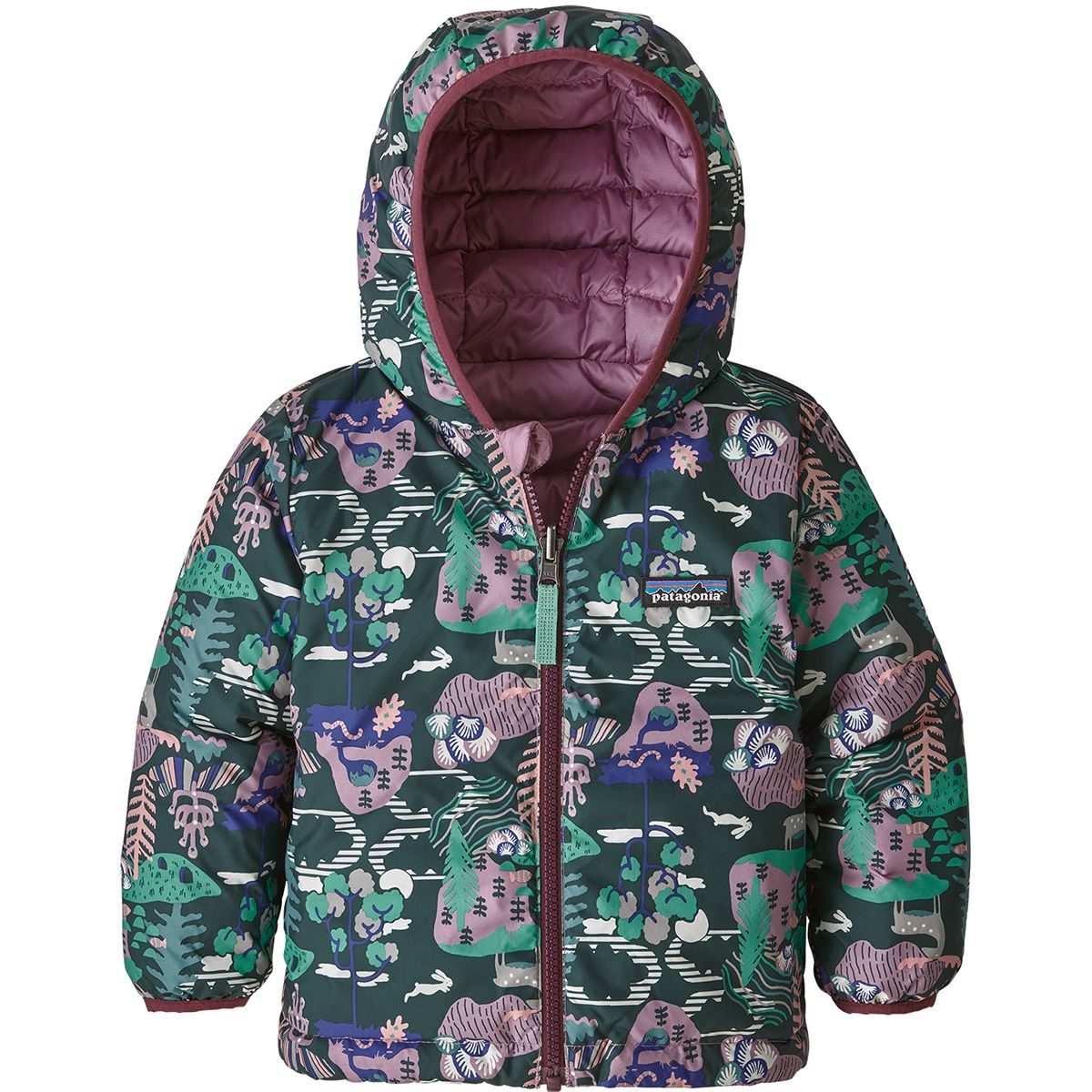photo: Patagonia Baby Reversible Down Sweater Hoody down insulated jacket