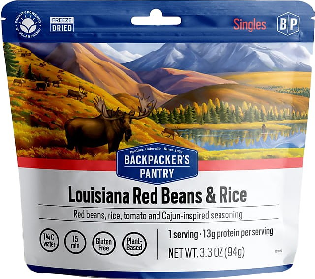 photo: Backpacker's Pantry Louisiana Red Beans & Rice vegetarian entrée