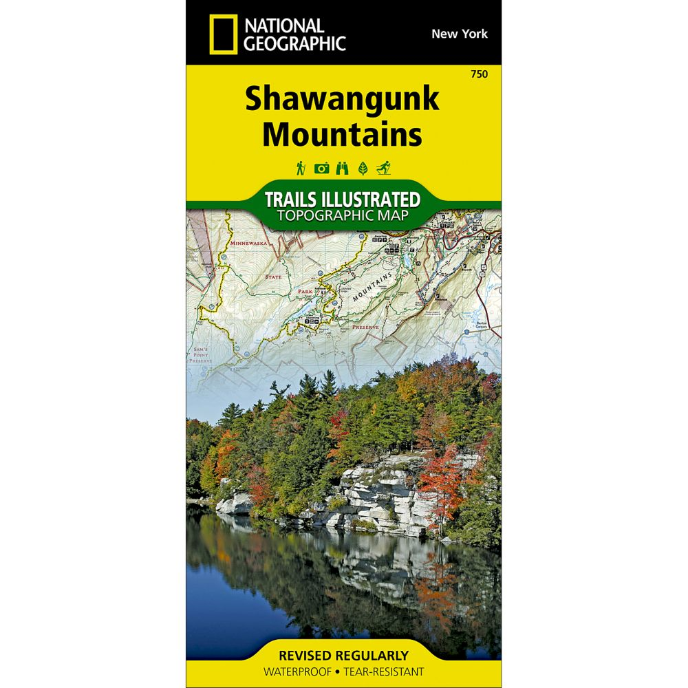 photo: National Geographic Pine Ridge National Recreation Area Trail Map us midwest paper map
