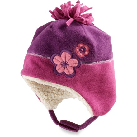 REI Floral Fleece Peruvian Hat