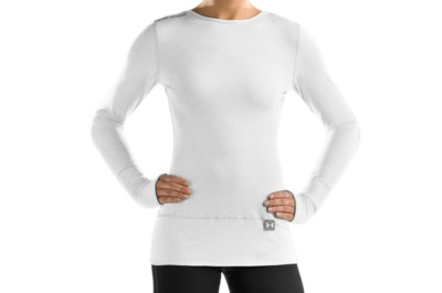 photo: Under Armour AllSeasonGear Heather Crew long sleeve performance top