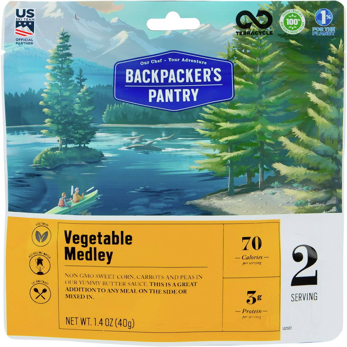 photo: Backpacker's Pantry Vegetable Medley snack/side dish