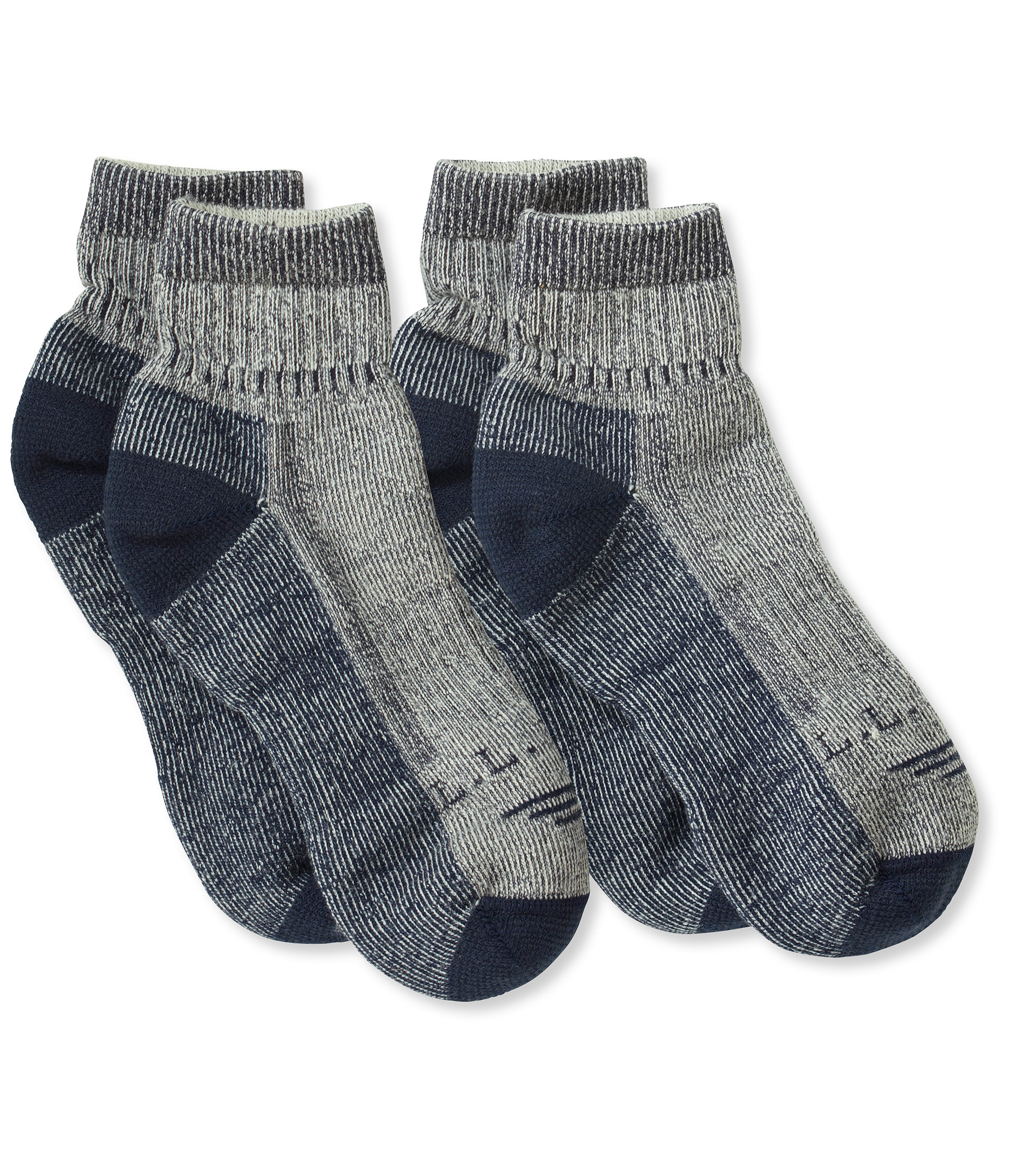 L.L.Bean Cresta Hiking Socks, Wool-Blend Midweight Quarter Crew