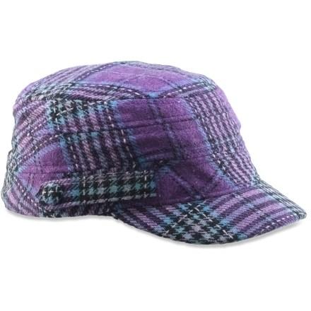 REI Plaid Cabbie Wool Cap