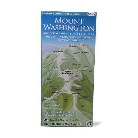 photo: Wilderness Map Co. Mount Washington Map us northeast paper map