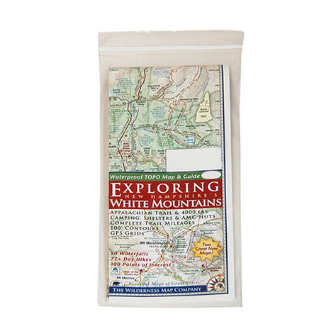 Wilderness Map Co. Exploring New Hampshire White Mountains Topographic Map & Guide