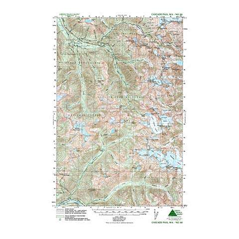 Green Trails Maps Cascade Pass Washington Map