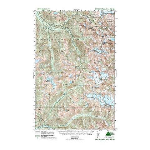 Green Trails Maps Cascade Pass Washington Map