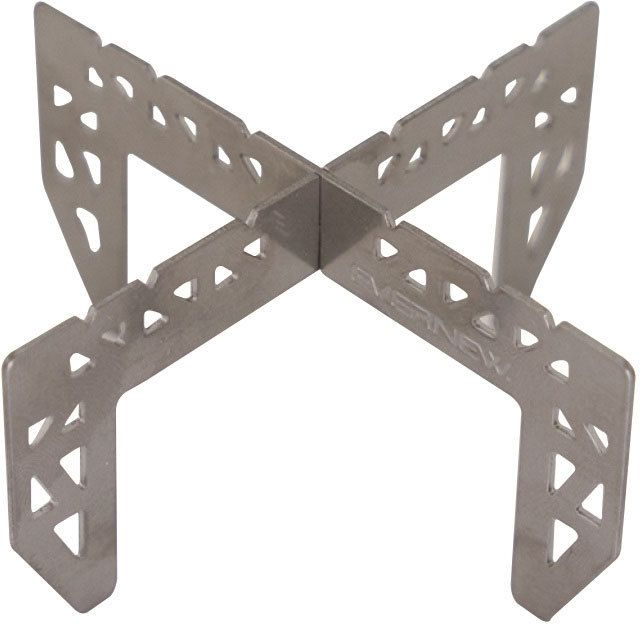 photo: Evernew Titanium Cross Stand stove accessory