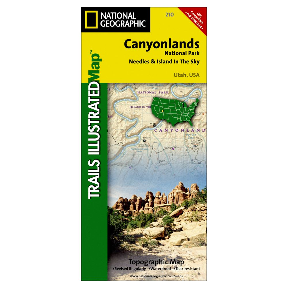 photo: National Geographic Canyonlands National Park Map us mountain states paper map