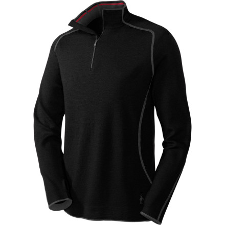photo: Smartwool Men's TML Light SportKnit 1/4 Zip long sleeve performance top