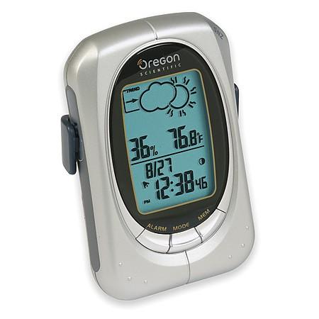 Oregon Scientific Handheld Weather Forecaster with Alarm Clock
