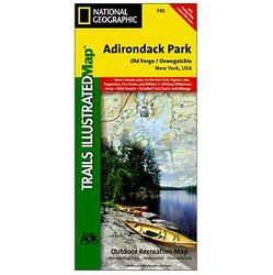 photo: National Geographic Old Forge/Oswegatchie Trail Map- Adirondack National Park us northeast paper map
