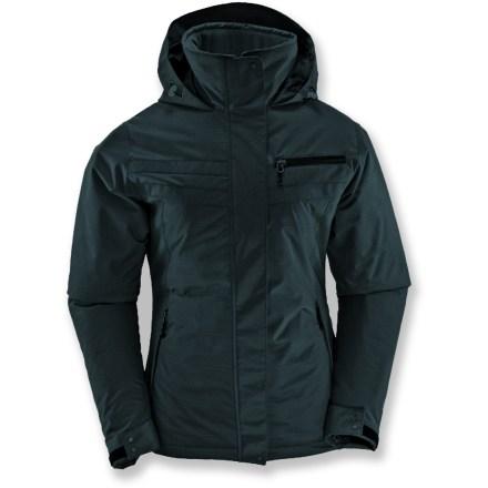White Sierra Lockdown Plaid Jacket