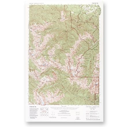 Little River Enterprises Custom Correct Gray Wolf - Dosewallips Map