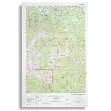 photo: Little River Enterprises Custom Correct Buckhorn Wilderness Map us pacific states paper map