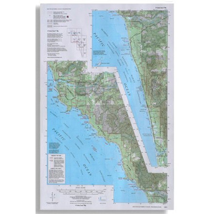 photo: Little River Enterprises Custom Correct South Olympic Coast Map us pacific states paper map