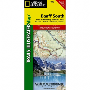 photo: National Geographic Banff South Trail Map canadian paper map
