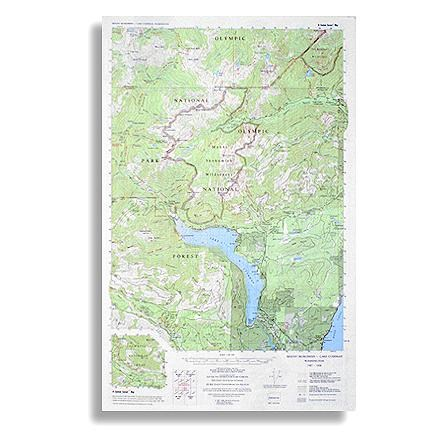 Little River Enterprises Custom Correct Mount Skokomish - Lake Cushman Map