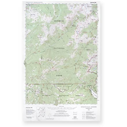 Little River Enterprises Custom Correct Enchanted Valley - Skokomish Map
