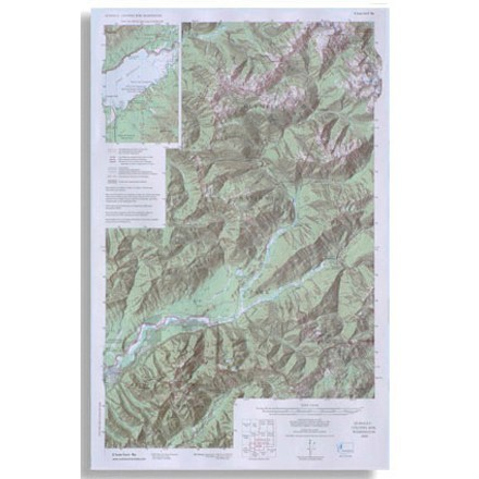 photo: Little River Enterprises Custom Correct Quinault/Colonel Bob Wilderness Map us pacific states paper map