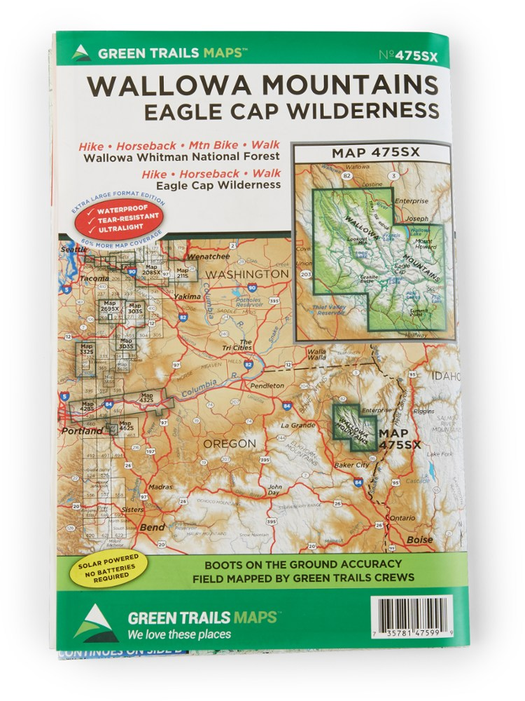 Green Trails Maps Wallowa Mountains and the Eagle Cap Wilderness Map