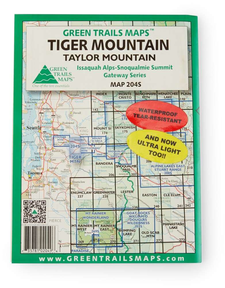 Green Trails Maps Tiger Mountain and Taylor Mountain Map