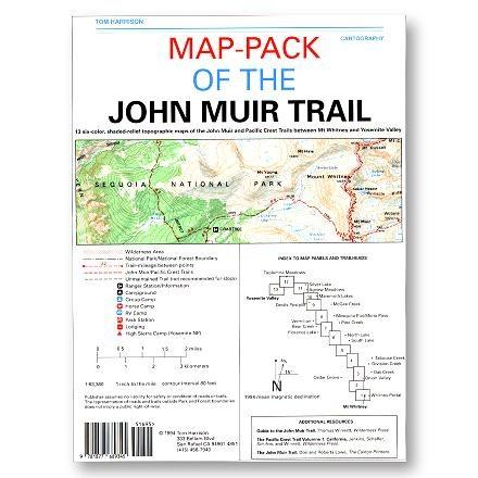 Tom Harrison Maps Map Pack of the John Muir Trail