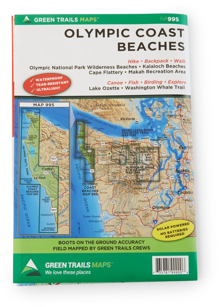 Green Trails Maps Olympic Coast Beaches Map