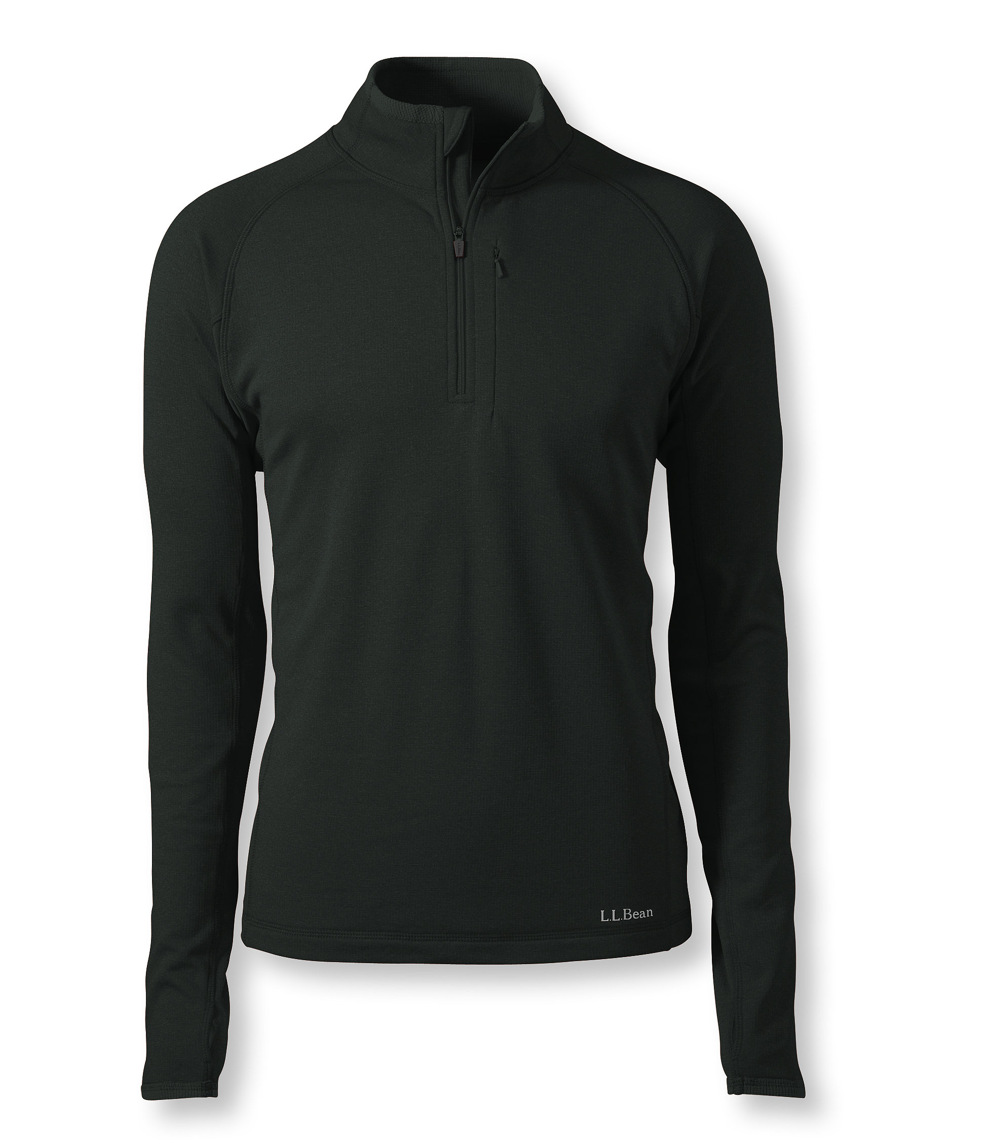 L.L.Bean Polartec Power Dry Base Layer, Quarter-Zip Expedition Weight