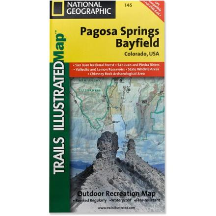 National Geographic Pagosa Springs and Bayfield Area Map