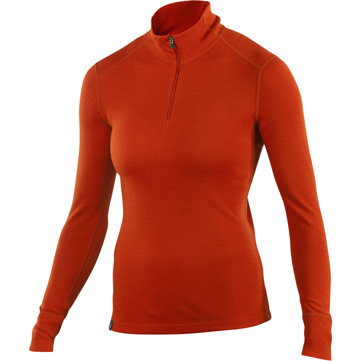 photo: Ibex Women's Woolies 220 Zip T base layer top