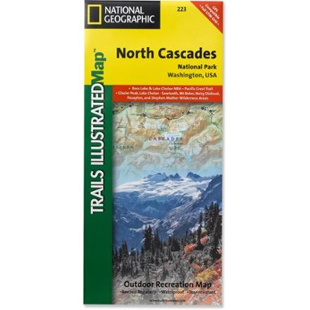 photo: National Geographic North Cascades National Park Map us pacific states paper map