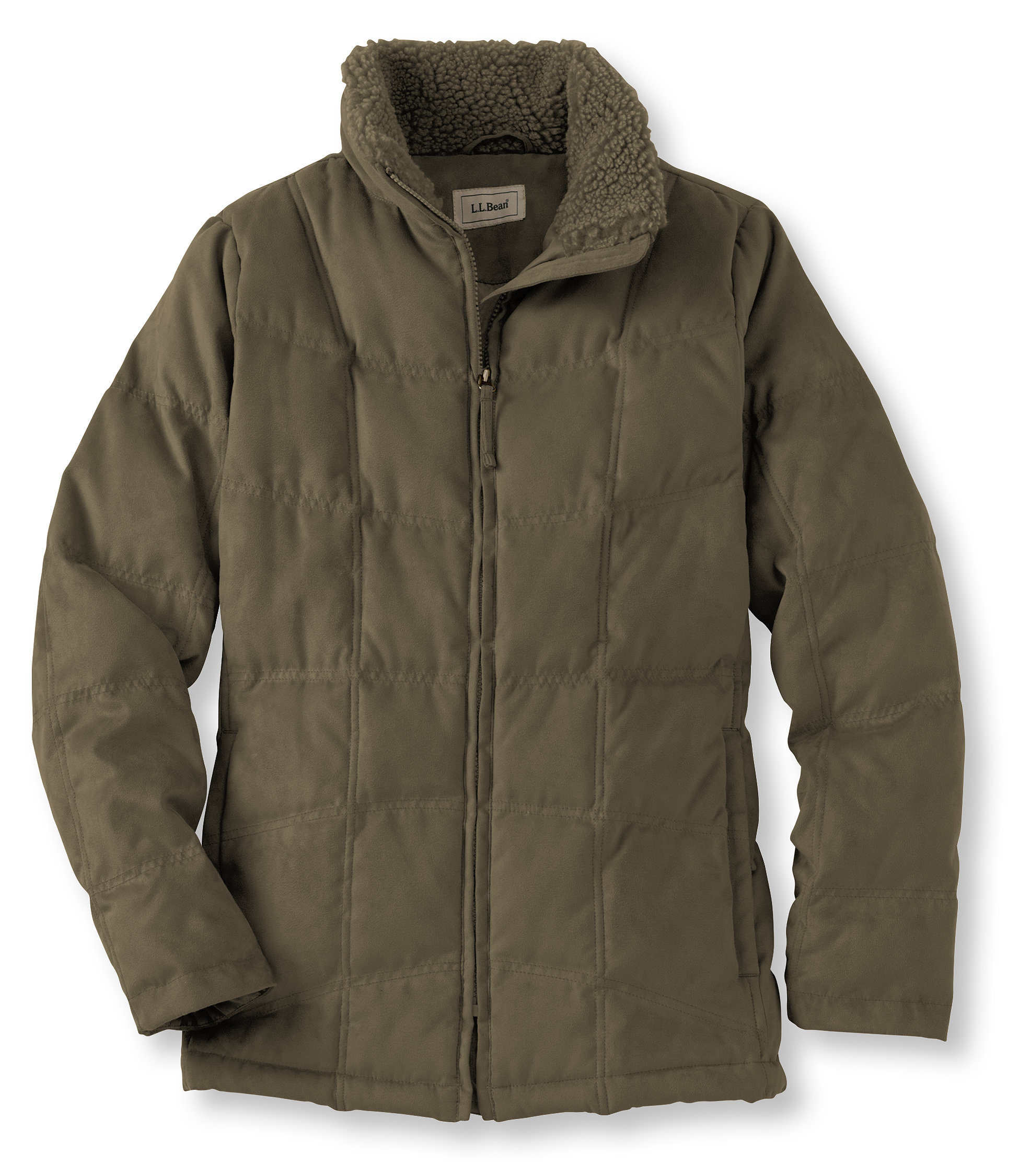 photo: L.L.Bean Microsuede Quilted Down Jacket down insulated jacket