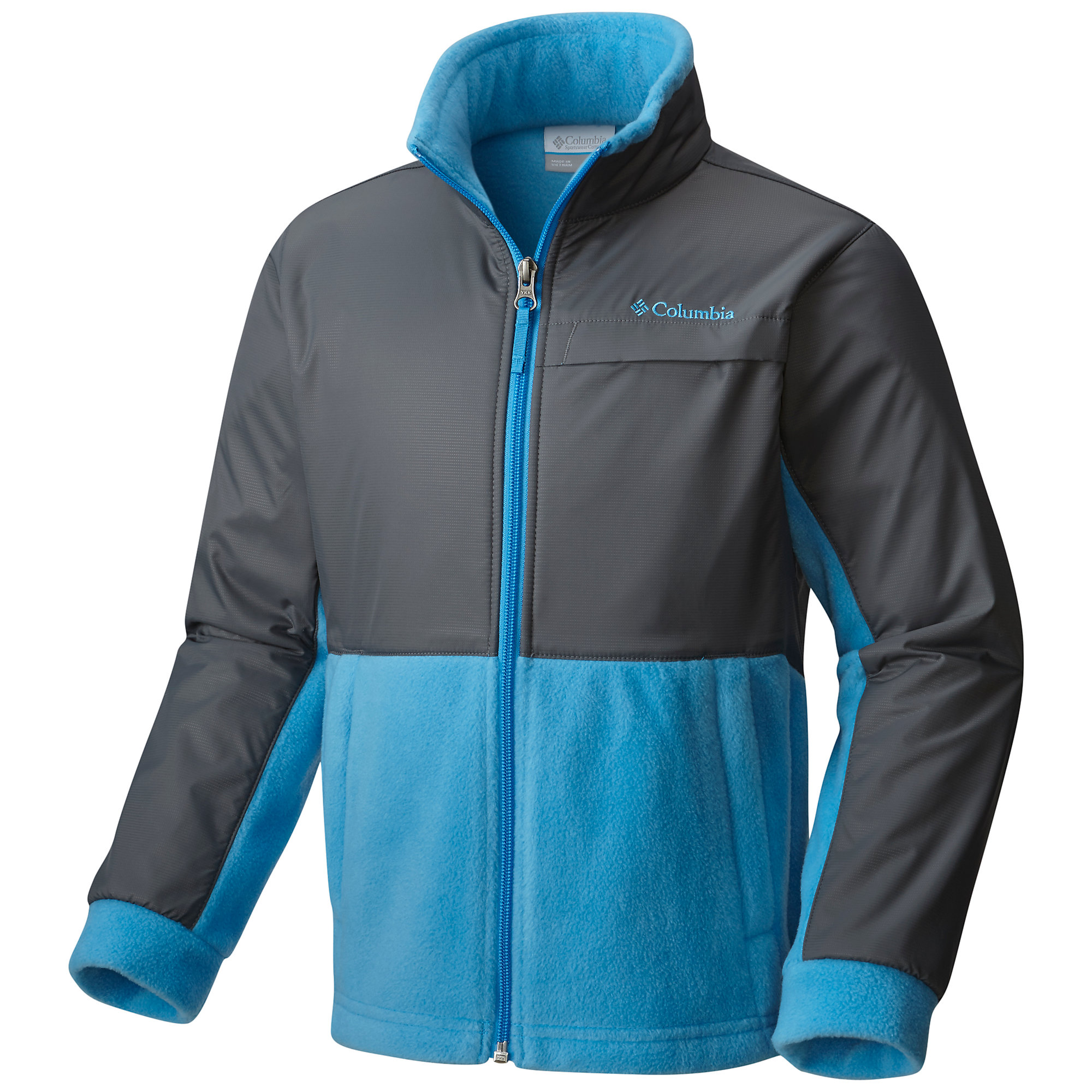 photo: Columbia Boys' Steens Mountain Overlay fleece jacket