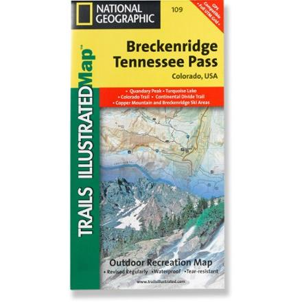 photo: National Geographic Breckenridge/Tennessee Pass Trail Map us mountain states paper map