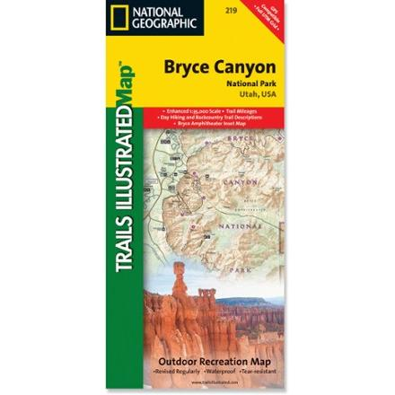 National Geographic Bryce Canyon National Park Map