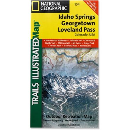 photo: National Geographic Idaho Springs/Georgetown/Loveland Pass Map us mountain states paper map