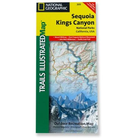 National Geographic Sequoia and Kings Canyon National Park Map