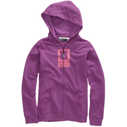 photo: Burton Girls' Logo Fill Full-Zip Hoodie fleece jacket