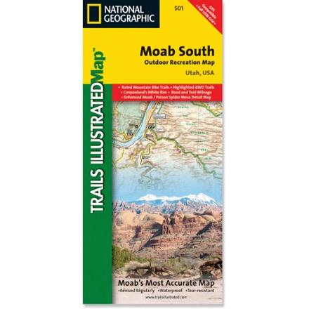 National Geographic Moab South Map