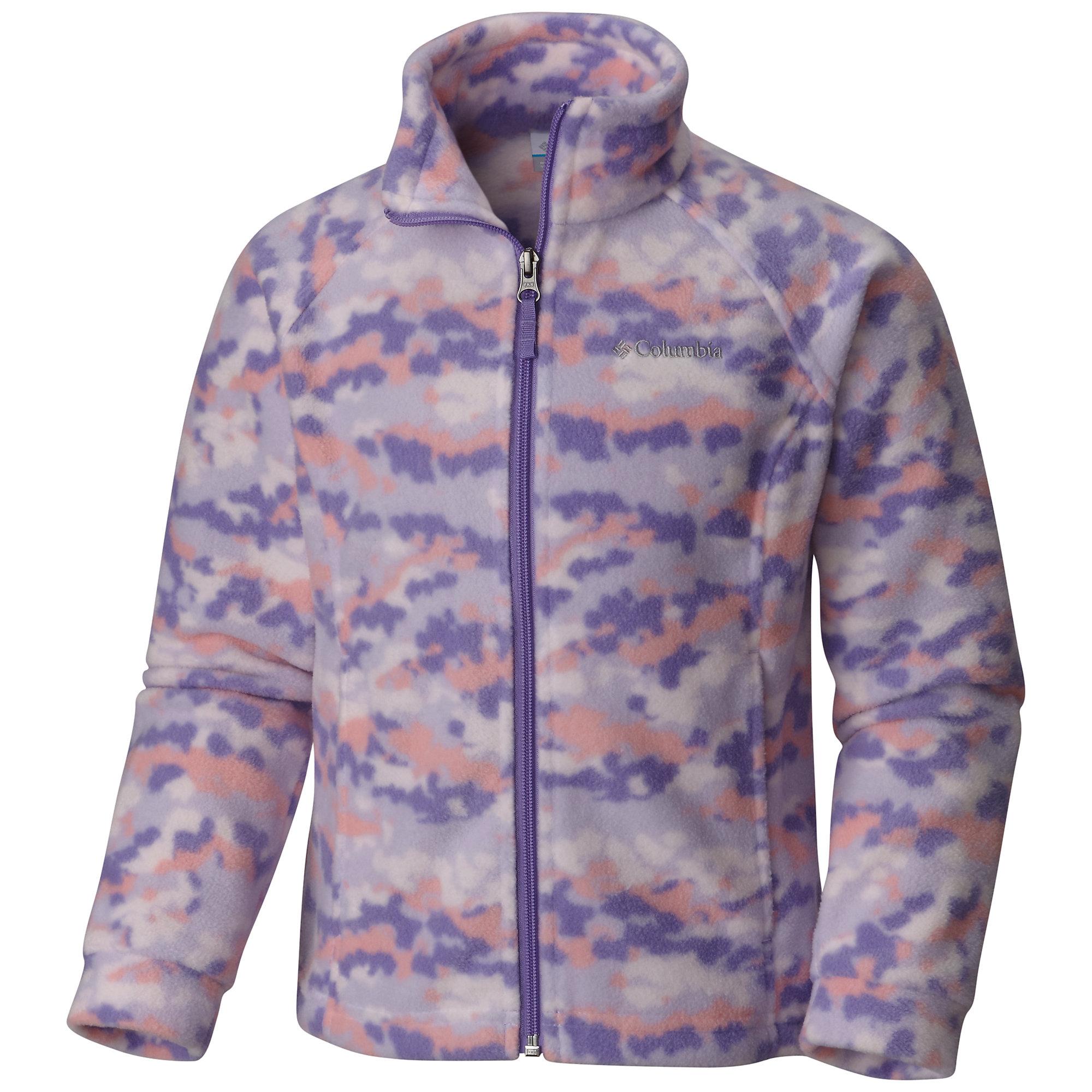 photo: Columbia Girls' Benton Springs Printed Fleece fleece jacket