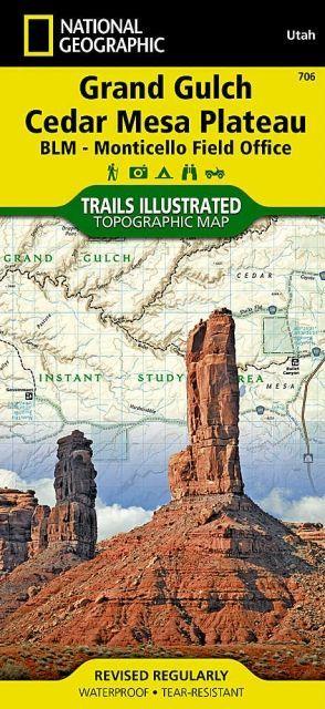 National Geographic Grand Gulch Plateau Map