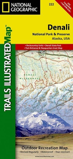photo: National Geographic Denali National Park and Preserve Map us pacific states paper map