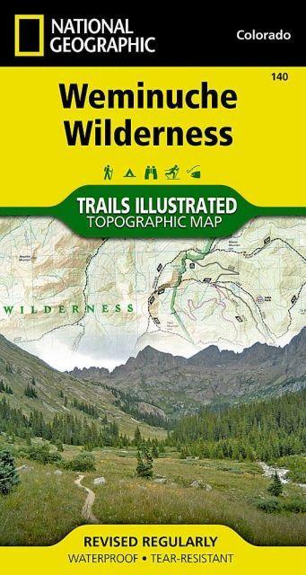 National Geographic Weminuche Wilderness Map